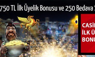 Casinomilyon Hoşgeldin Bonusu 250 Bedava Dönüş ve 750 TL Oldu!