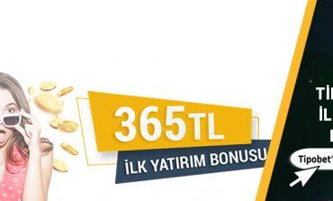 Tipobet365 İlk Üyelik Bonusu 365 TL