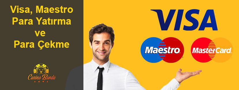 Visa Kart Mastercard Maestro Kart Casino Para Yatırma