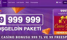 MrOyun Casino Bonusu 999 TL ve 99 Freespin Oldu